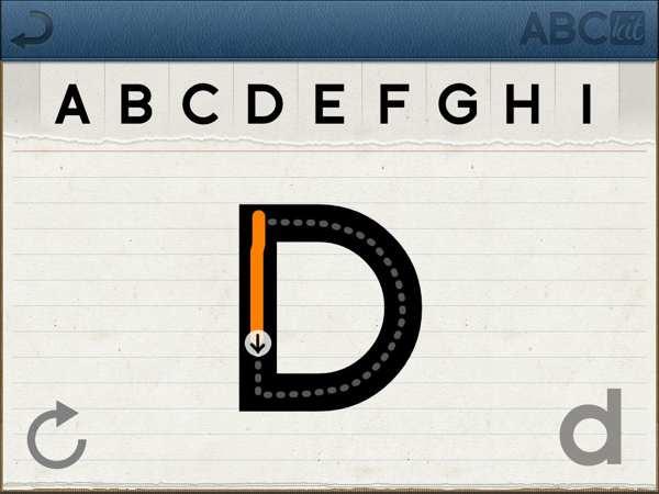 Aplicaciones de caligrafia para niños en el iPad