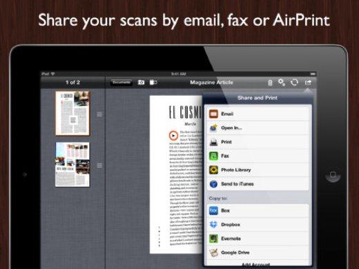 Escanea tus apuntes con JotNot Pro