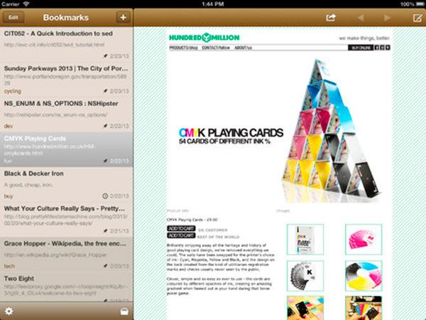 pinbook en el iPad