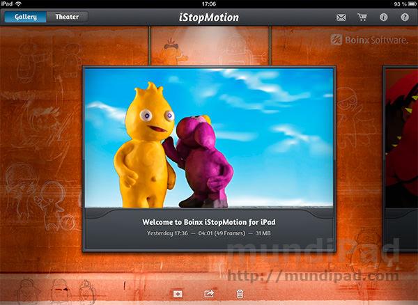 Análisis de iStopMotion para iPad