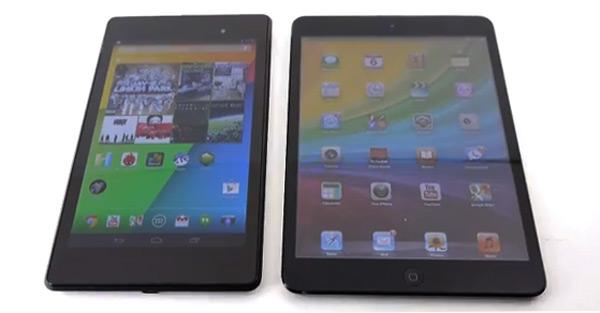 Comparativa en vídeo del iPad Mini y el Nexus 7 2013 en inglés