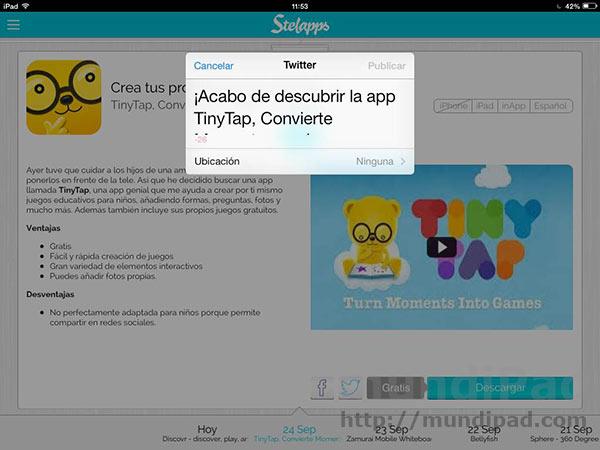 Stelapps, recomendación y ofertas de aplicaciones para iPad