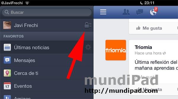 Nueva actualización de la aplicación Facebook