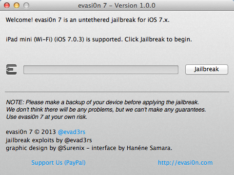 ipad Jailbreak ios7