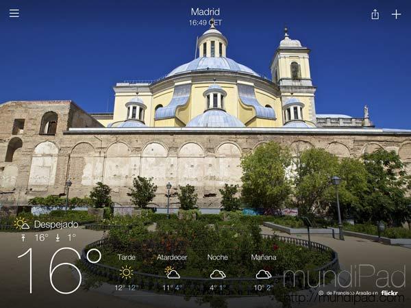 Yahoo Weather para iPad
