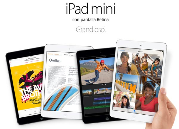 Apple recupera stock del iPad Mini con pantalla de retina