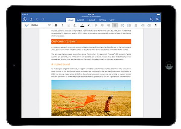 Ya podemos descargar MicroSoft Office para iPad gratis para lectura