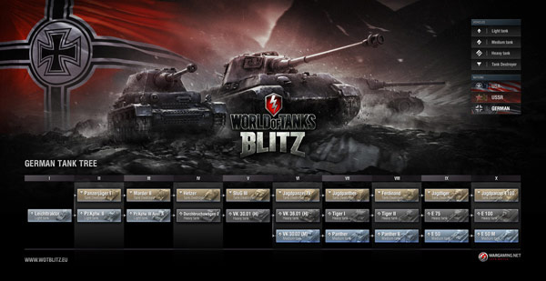 Carro Alemán en el World Of Tanks Blitz para iPad
